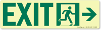 GlowSmart™ Directional Exit Signs, Arrow Right