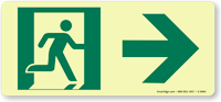Glowsmart™ Directional Emergency Sign, Arrow Right Sign