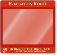 In Case Of Fire Use Stairs Evacuation Map Holder