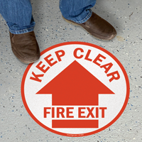 Keep Clear Fire Exit