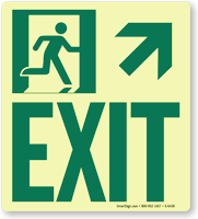 GlowSmart™ Directional Exit Sign, Upward Arrow Sign