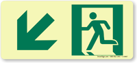 Glowsmart™ Directional Emergency Sign, Arrow Down Sign