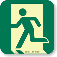 GlowSmart™ Running Man, Emergency Exit Left