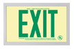6 in. EXIT Sign in Brushed Aluminum Frame