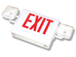 Exit Sign with Adjustable Lamp Heads