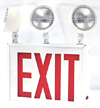 New York-Approved LED Exit Sign with Emergency Lights