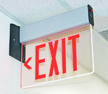 Edge-Lit LED Exit Sign