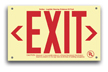 EXIT Sign, 6 in. letters in red.