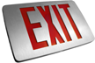 Thin Die-Cast Aluminum Exit Sign
