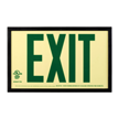 Photoluminescent  Framed Green Acrylic Exit Sign