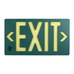 Green Molded Photoluminescent Exit Sign