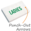 Ladies, LED Exit Sign with Battery Backup