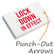 Lock Down In Effect LED Exit Sign with Battery Backup