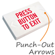 Press Button to Exit LED Exit Sign with Battery Backup