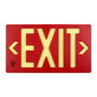 Red  Molded Photoluminescent Exit Sign