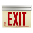 Red Arcylic Photoluminescent Exit Sign