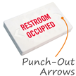 Restroom Occupied LED Exit Sign with Battery Backup