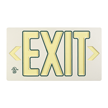 White w/Green Molded Photoluminescent Exit Sign