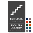 Bilingual Exit Stairs, Escalera De Salida Sign
