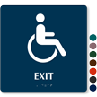 Exit Braille Door Sign With Accessible Pictogram