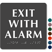 Exit with Alarm Sign
