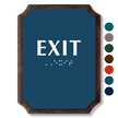 Exit Braille TactileTouch Wood Plaque