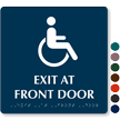Exit Front Door Tactile Touch Braille Sign