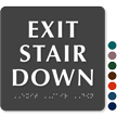 Exit Stair Down Sign
