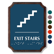 Exit Stairs Braille TactileTouch Wood Plaque