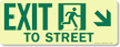 GlowSmart™ Directional Exit Sign, To Street Sign