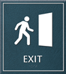 Exit Sign, 8.625 in. x 7.75 in.