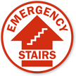 Emergency Stairs with Arrow