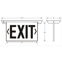 New York-Approved Recessed Edge-Lit LED Exit Signs
