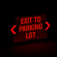 Exit to Parking Lot,LED Exit Sign