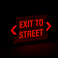 LED Exit Sign with Punch-Out Arrows