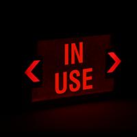 In Use LED Exit Sign with Battery Backup