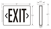 LED Double Faced Exit Sign