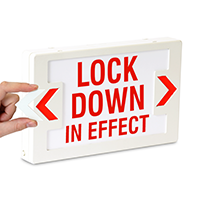 LED Lock Down In Effect Exit Sign