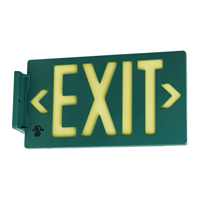 Green Molded Plastic Exit Sign