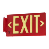 Red Molded Plastic Exit Sign