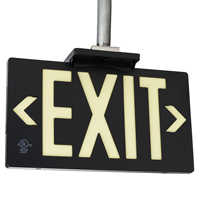 Photoluminescent Black Molded Exit Sign