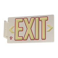 Red Molded Exit Sign