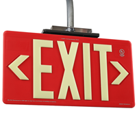 Non-Radioactive Plastic Exit Sign