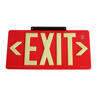 Red Recyclable  Non-Toxic  and Non-Radioactive photoluminescent Exit Sign