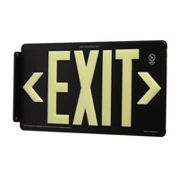 Black Recycleable Exit Sign