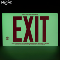 Red Acrylic Unframed Exit Sign