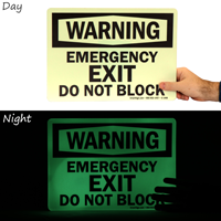 Glowing Emergency Exit Do Not Block Sign
