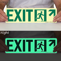 Directional Exit with Arrow Up Sign