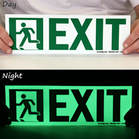 Glow-in-the-Dark Directional Exit Sign